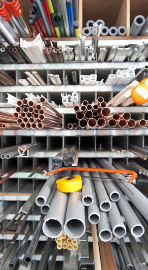 PVC, Copper, Galvanized Pipes